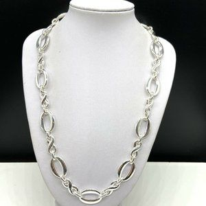 Vintage Signed NAPIER Silver Chain Necklace